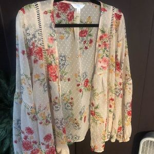 Time & Tru Open Front Blouse